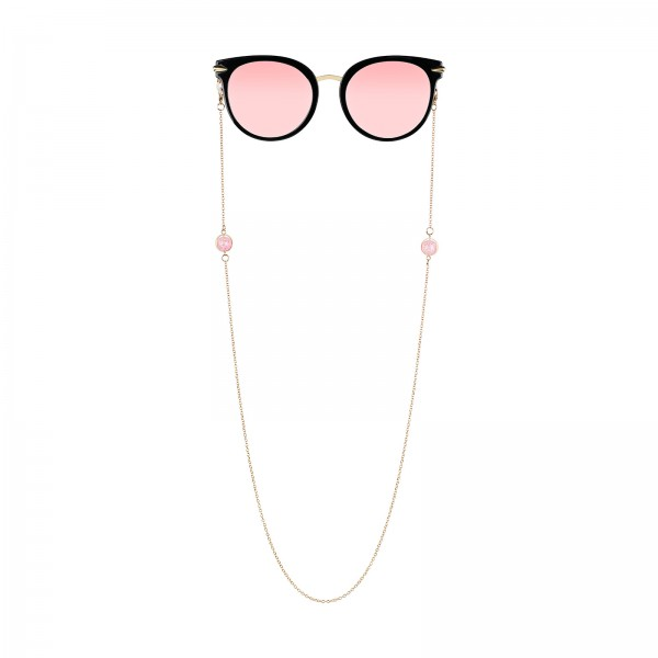 "Brillenkette ""Rosenquarz"""