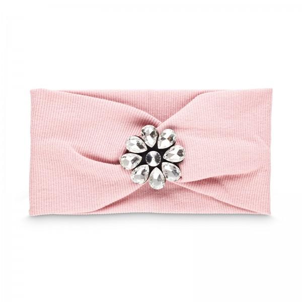 Stirnband Flowerpower Rosa