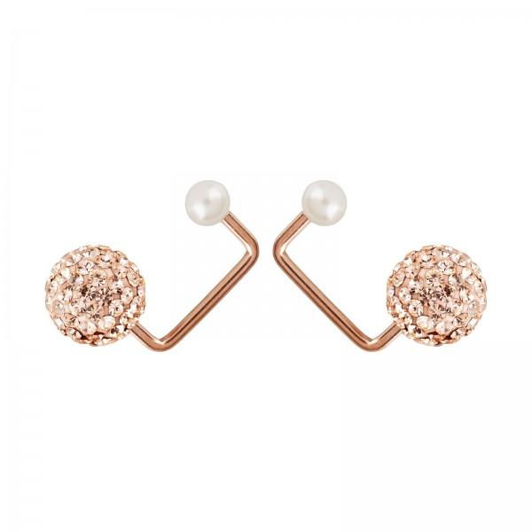 """Ohrringe""""Pearl to Pearl"""" White"""