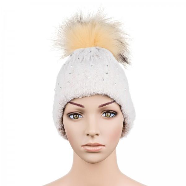 """Mütze """"Wintertraum"""" beige"""